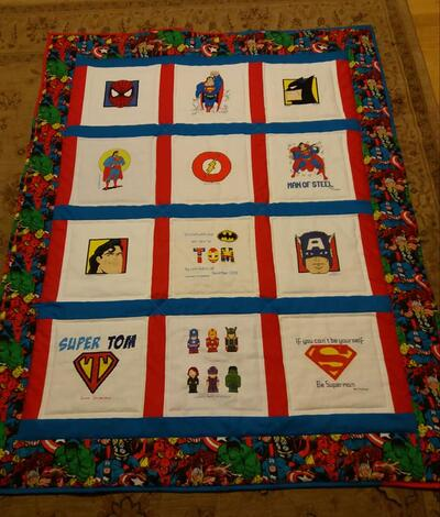 Photo of Tom Ms quilt