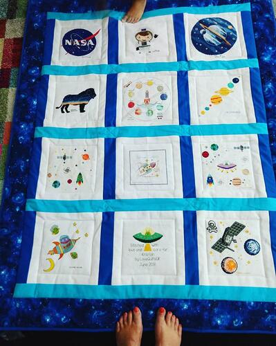 Photo of Kristian Ms quilt