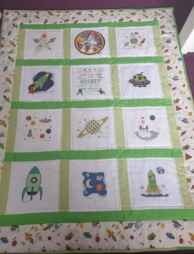 Photo of Archey Bs quilt