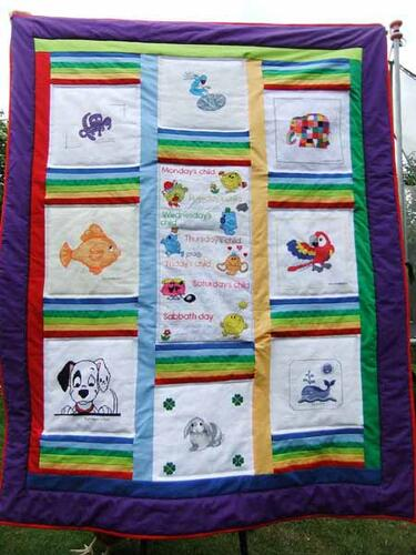 Photo of John-Paul Ms quilt