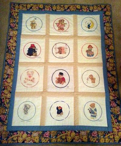 Photo of (QUILTED) Circles 3 (Teddies)s quilt