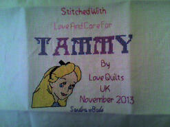 Cross stitch square for Tammy O's quilt