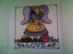 Cross stitch square for Kennedy J's quilt