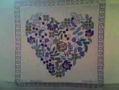 Cross stitch square for Nina P's quilt