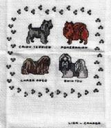 Cross stitch square for Alice P's quilt