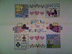 Cross stitch square for Zara G's quilt
