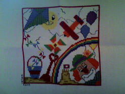 Cross stitch square for Daisy W's quilt