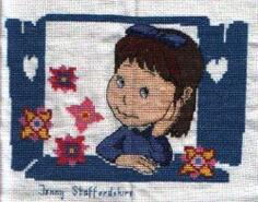 Cross stitch square for Evie C's quilt