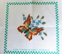 Cross stitch square for Abigail K's quilt