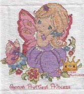 Cross stitch square for Hannah P's quilt