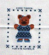Cross stitch square for Archie J's quilt