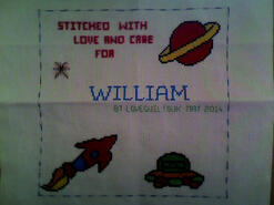 Cross stitch square for William F's quilt