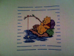 Cross stitch square for Blakely A's quilt