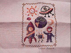 Cross stitch square for Taylor's quilt