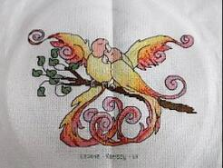 Cross stitch square for (QUILTED) Birds's quilt
