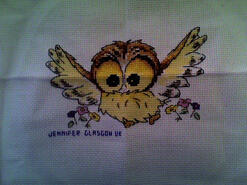 Cross stitch square for Jeneeve J's quilt