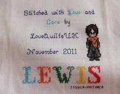 Cross stitch square for Lewis C 's quilt