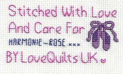 Cross stitch square for Harmonie-Rose's quilt