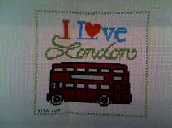 Cross stitch square for Alexanda H's quilt