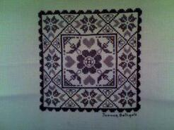 Cross stitch square for Isabel Rose C's quilt