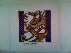 Cross stitch square for Sam R's quilt
