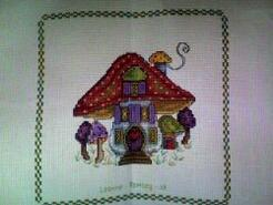 Cross stitch square for Ocean H's quilt