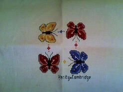 Cross stitch square for Evie D's quilt