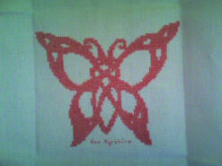 Cross stitch square for Seren's quilt