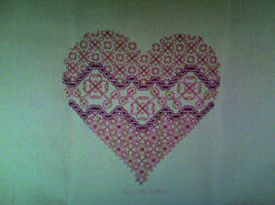 Cross stitch square for Summer D's quilt
