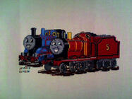 Any child cross stitch category: Trains