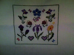 Cross stitch square for Jessica R's quilt