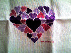 Cross stitch square for Layla M's quilt