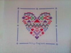 Cross stitch square for Millie-Mai's quilt