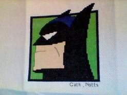 Cross stitch square for Alfie B's quilt