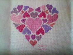 Cross stitch square for Sophia M's quilt