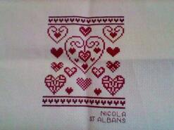 Cross stitch square for Suzanne C's quilt