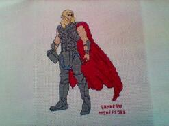 Cross stitch square for Rio V's quilt