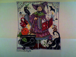 Cross stitch square for Freddie F's quilt
