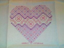 Cross stitch square for Kaydee W's quilt