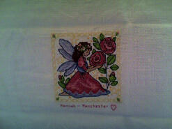 Cross stitch square for Maisy Hope's quilt