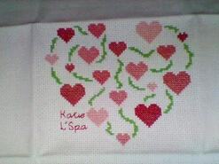 Cross stitch square for Scarlett H's quilt