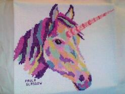 Cross stitch square for Olivia P's quilt