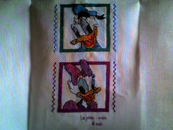 Cross stitch square for Violet C's quilt