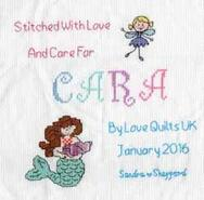 Cross stitch square for Cara K's quilt