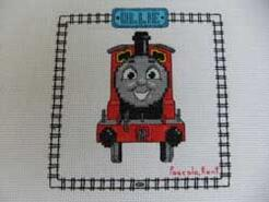 Cross stitch square for Ollie K's quilt