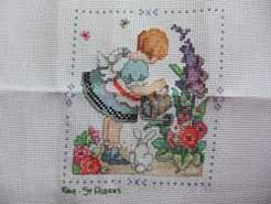 Cross stitch square for Blisse's quilt