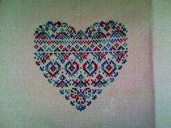 Cross stitch square for Megan T's quilt