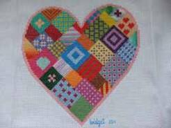 Cross stitch square for Katie D's quilt