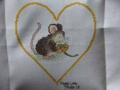 Cross stitch square for Lillie-May H's quilt