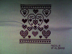 Cross stitch square for Katie-Ellen's quilt